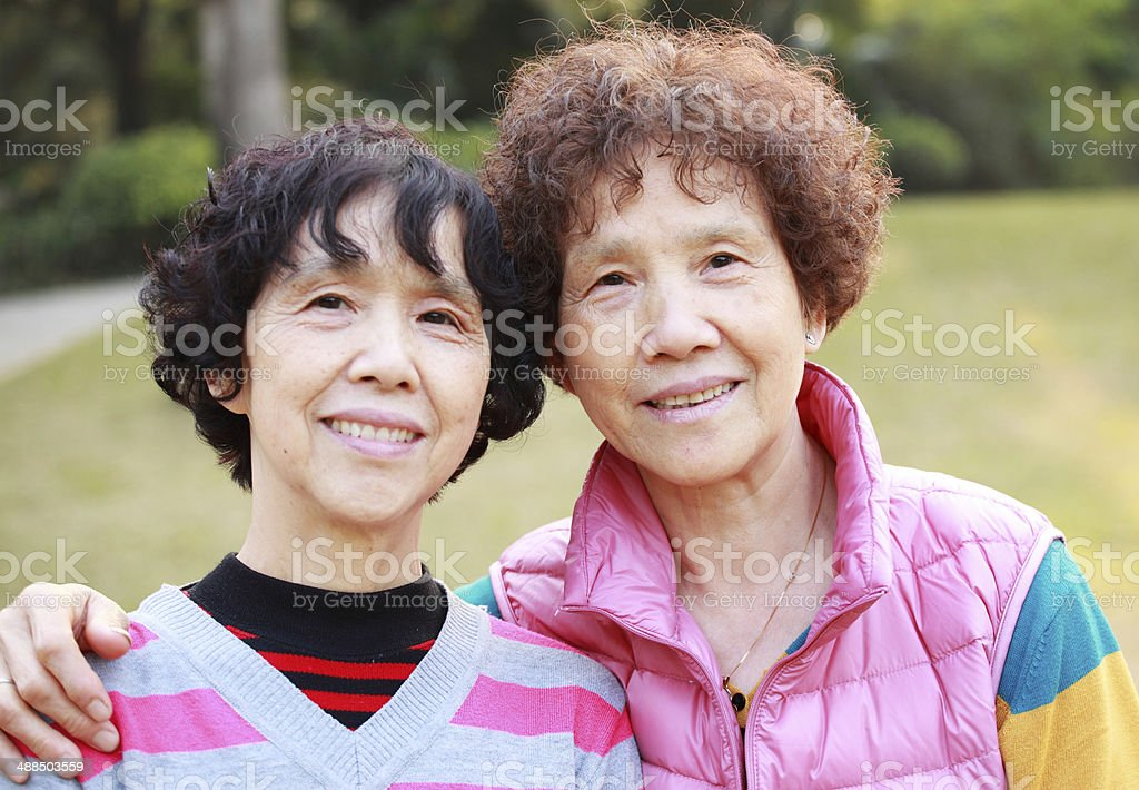 My mother and aunt stock photo