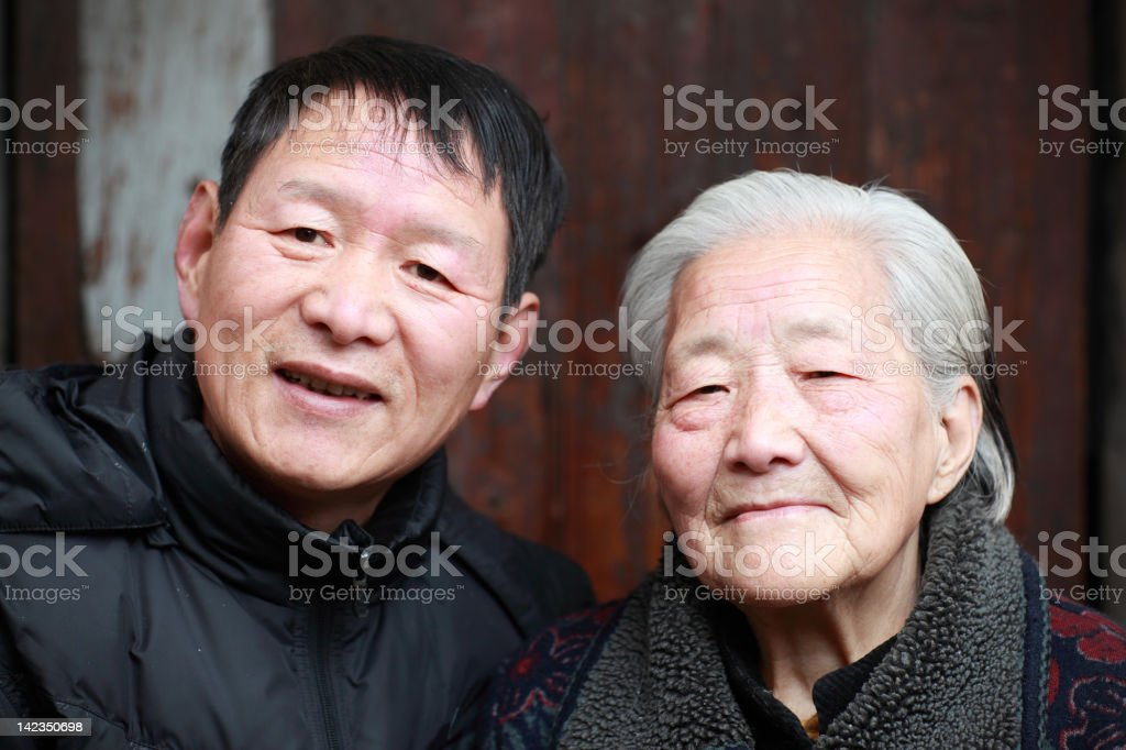 My mother and grandma royalty-free stock photo