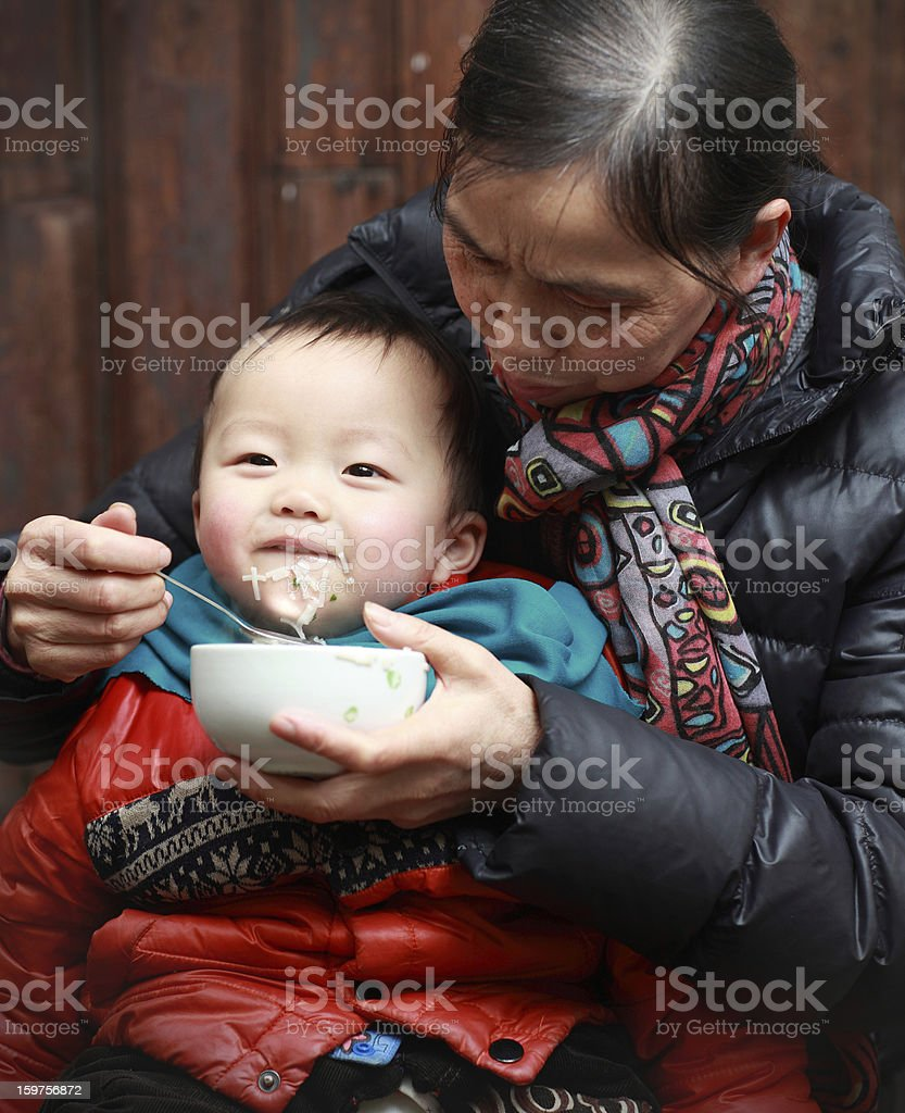 My mother and son royalty-free stock photo