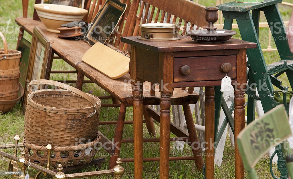My mother's yard sale stock photo
