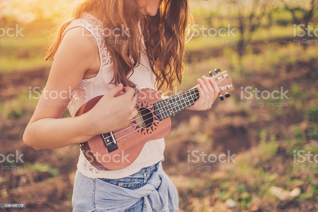 My music is always with me stock photo
