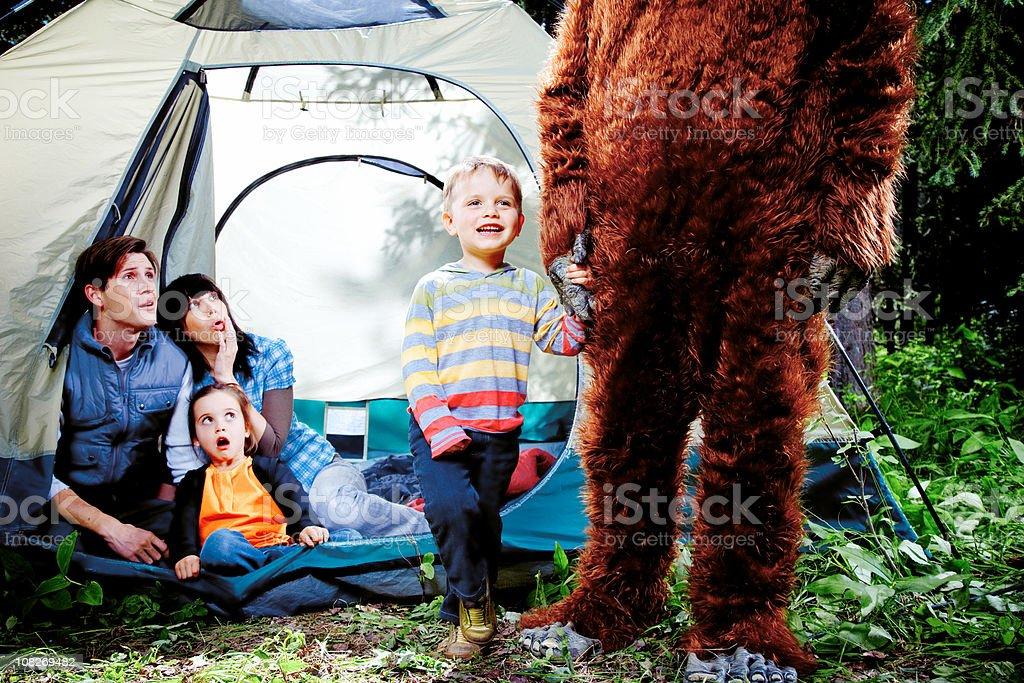 My new friend Sasquatch stock photo