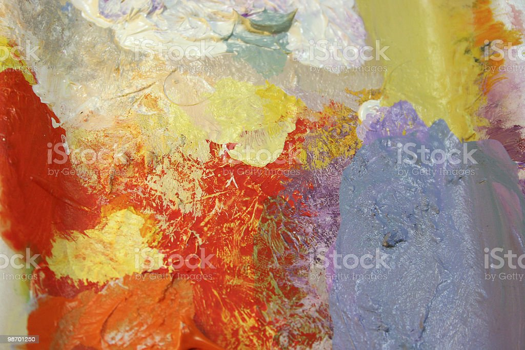 My paint palette: orange, red, blue royalty-free stock photo