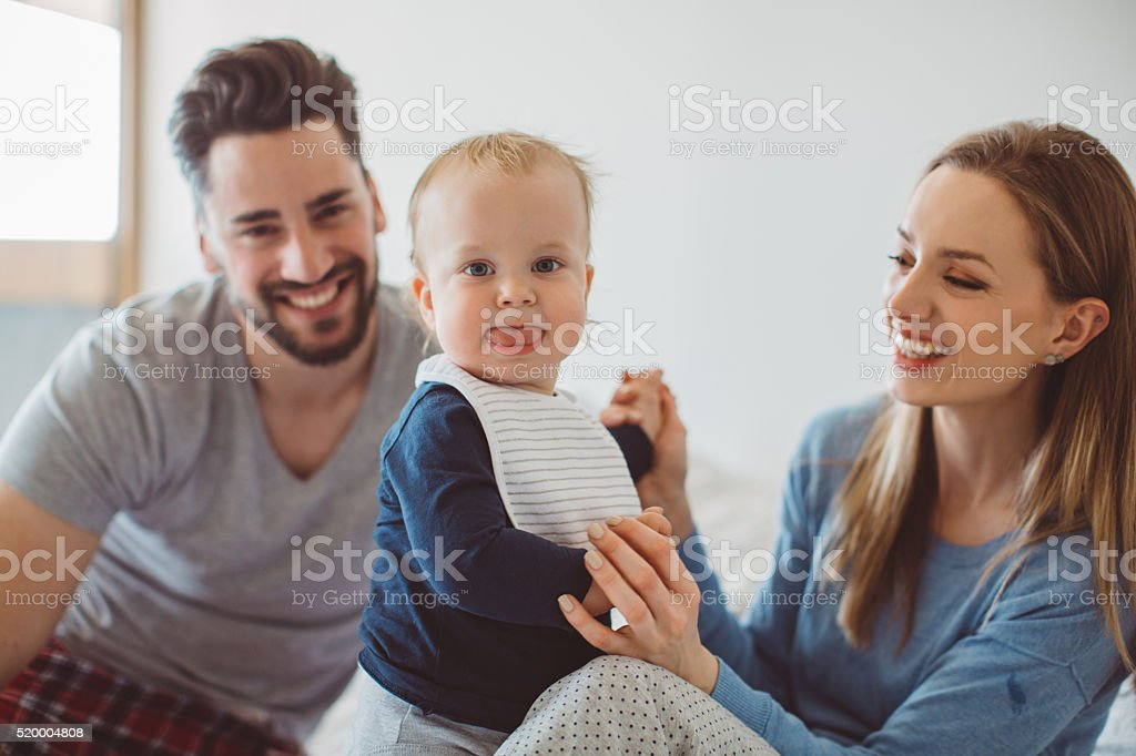 My parents and me stock photo