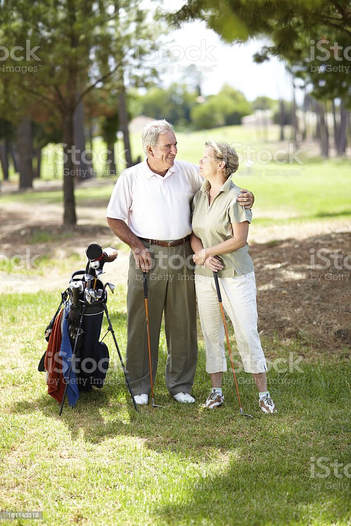 My partner in life and ... golf royalty-free stock photo