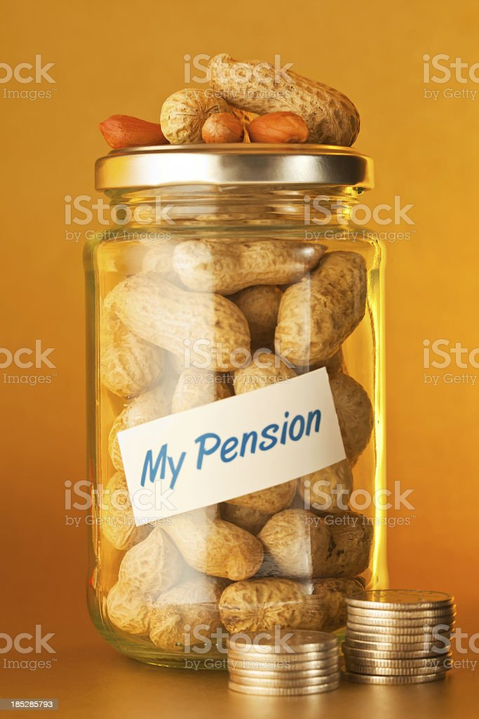 My Pension Pot royalty-free stock photo