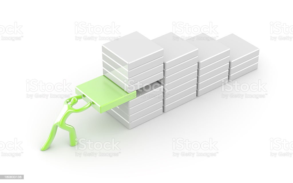 My personal graph royalty-free stock photo
