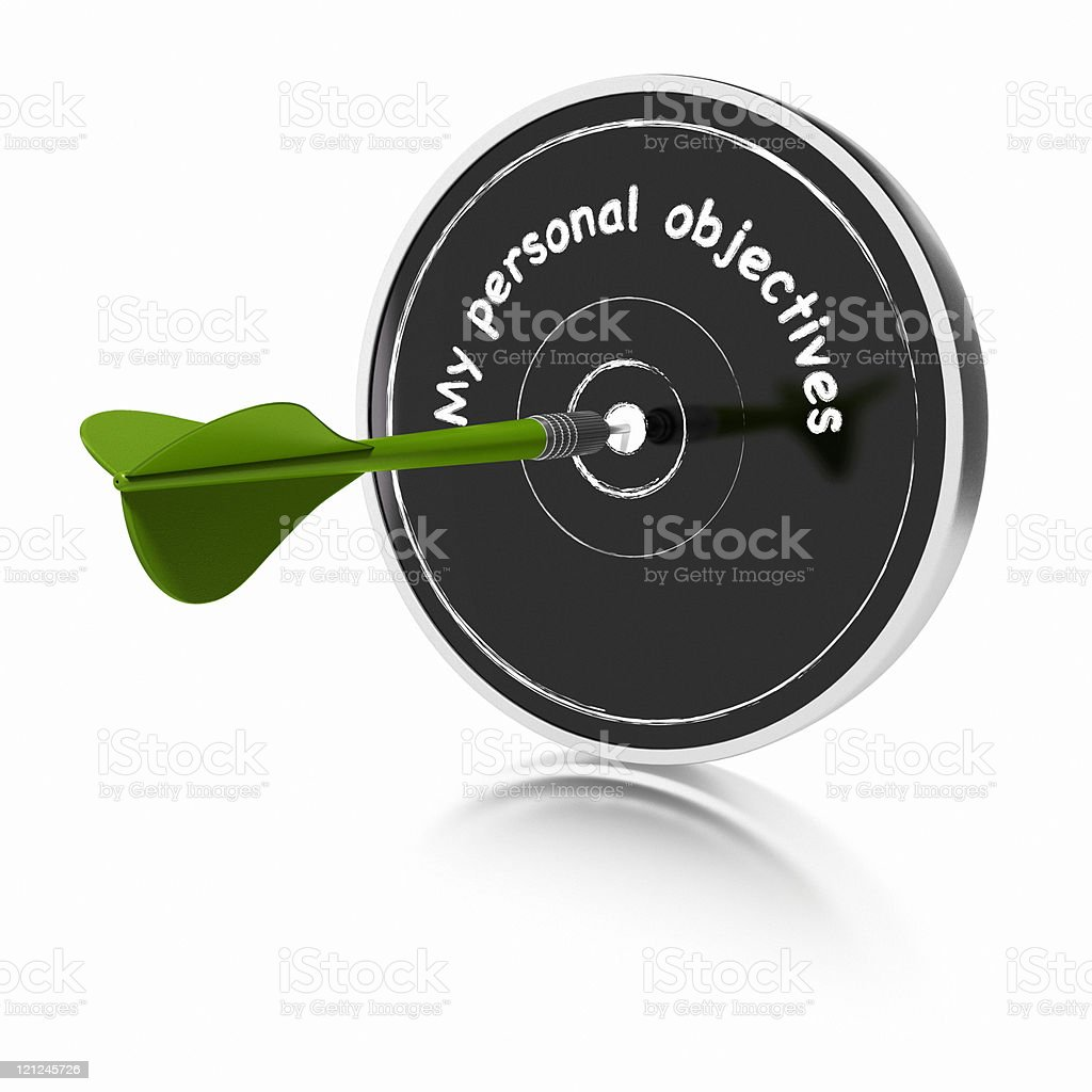 My personal objectives royalty-free stock photo