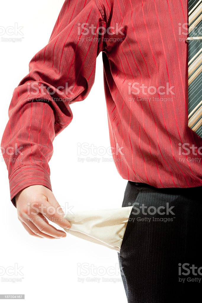 My pockets are empty royalty-free stock photo