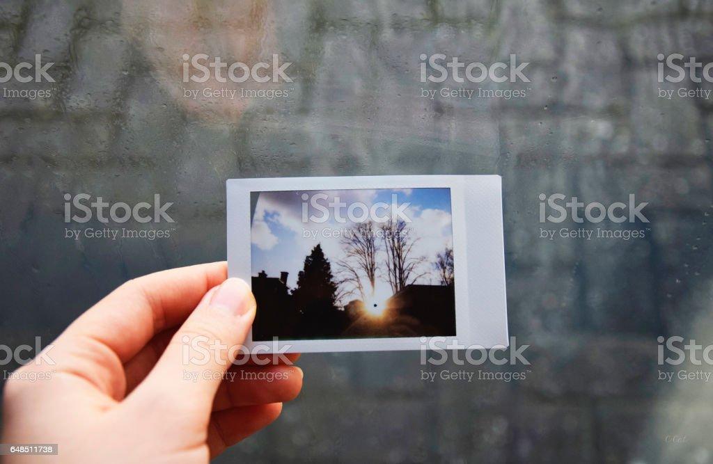 My polaroid stock photo
