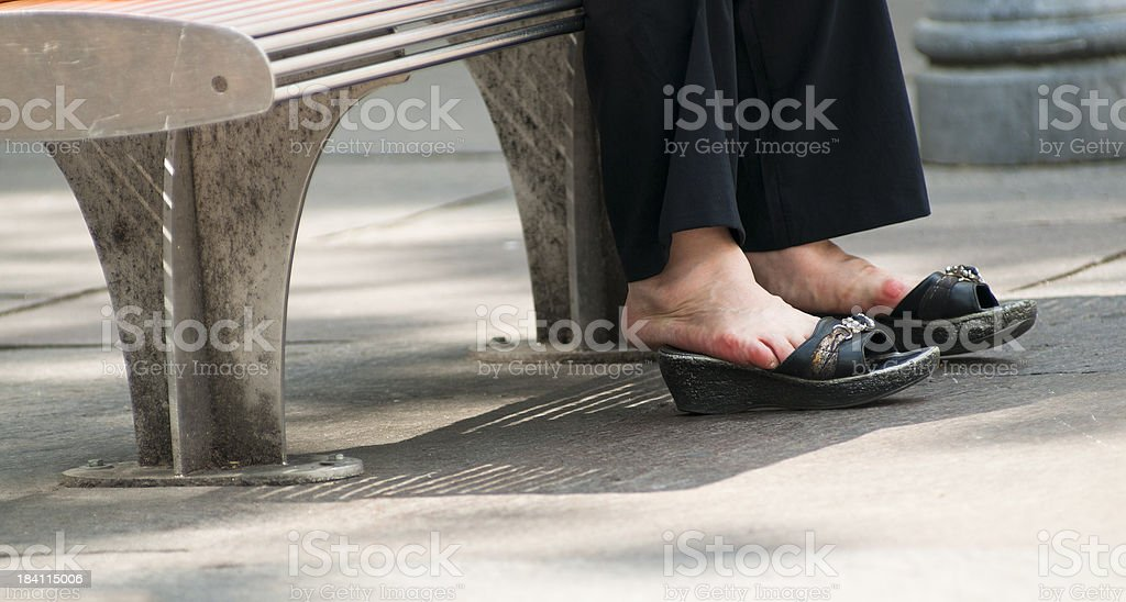 My poor feet! royalty-free stock photo