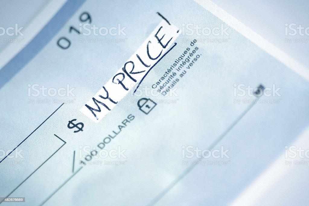 My price! royalty-free stock photo