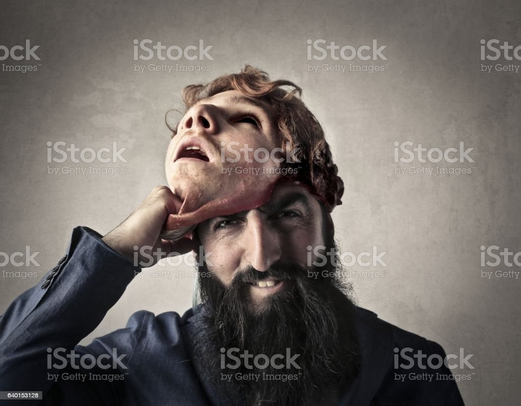 My real face stock photo