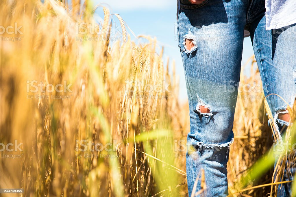 My ripped jeans stock photo
