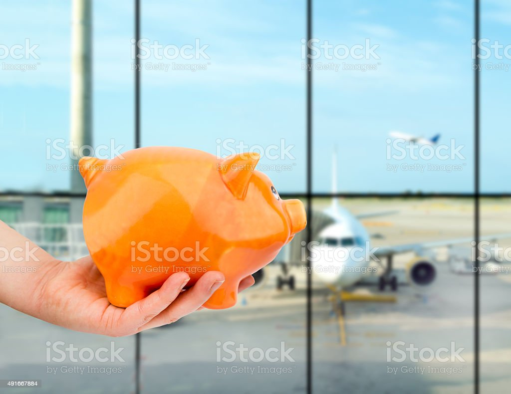 my savings for the travel stock photo