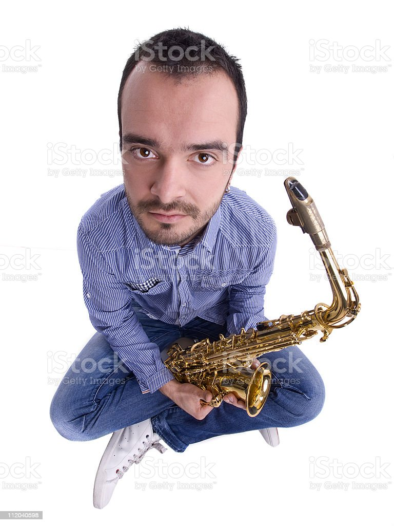 my sax stock photo