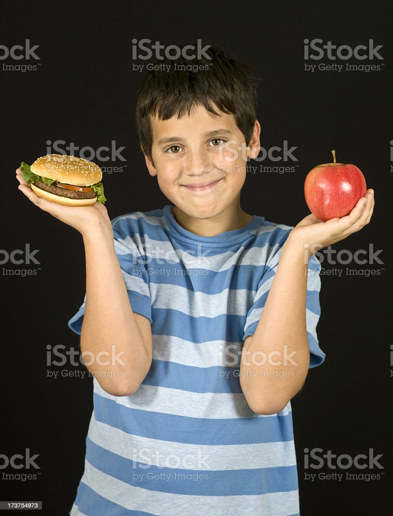 My school lunch royalty-free stock photo