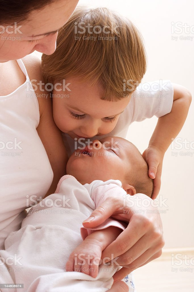 My sister is sleeping! royalty-free stock photo