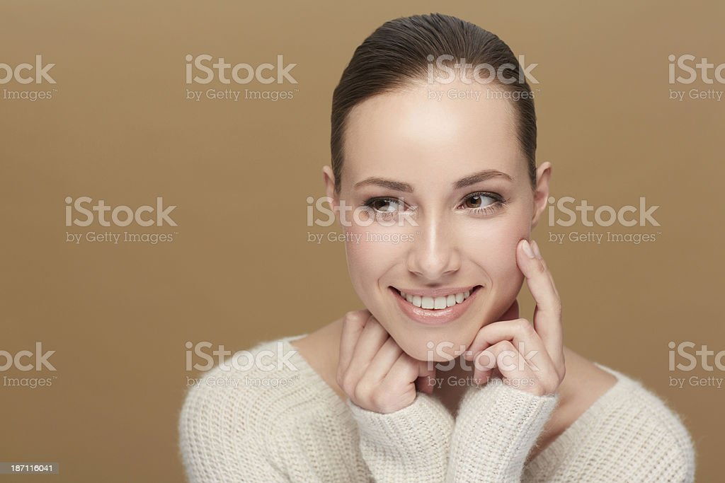 My skin has never felt better! royalty-free stock photo