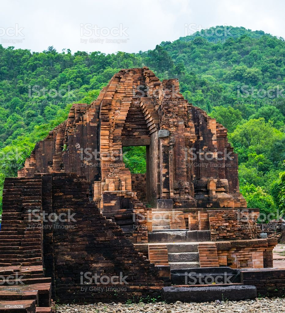 My Son, Ancient Hindu tamples of Cham in Vietnam stock photo