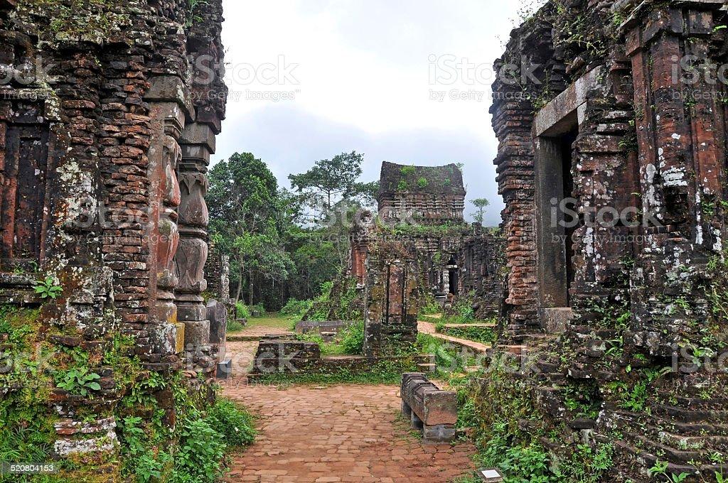 My Son Hindu Shiva Temple, Quang Nam, Vietnam stock photo