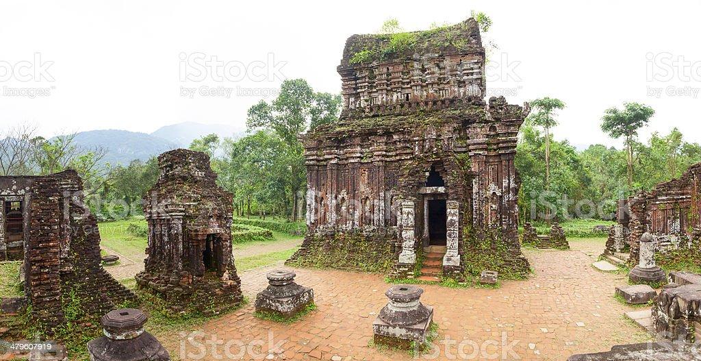 My Son Hindu temples panorama stock photo