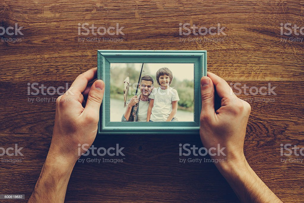 My son is my life. stock photo
