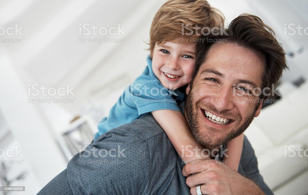 My son means the world to me stock photo