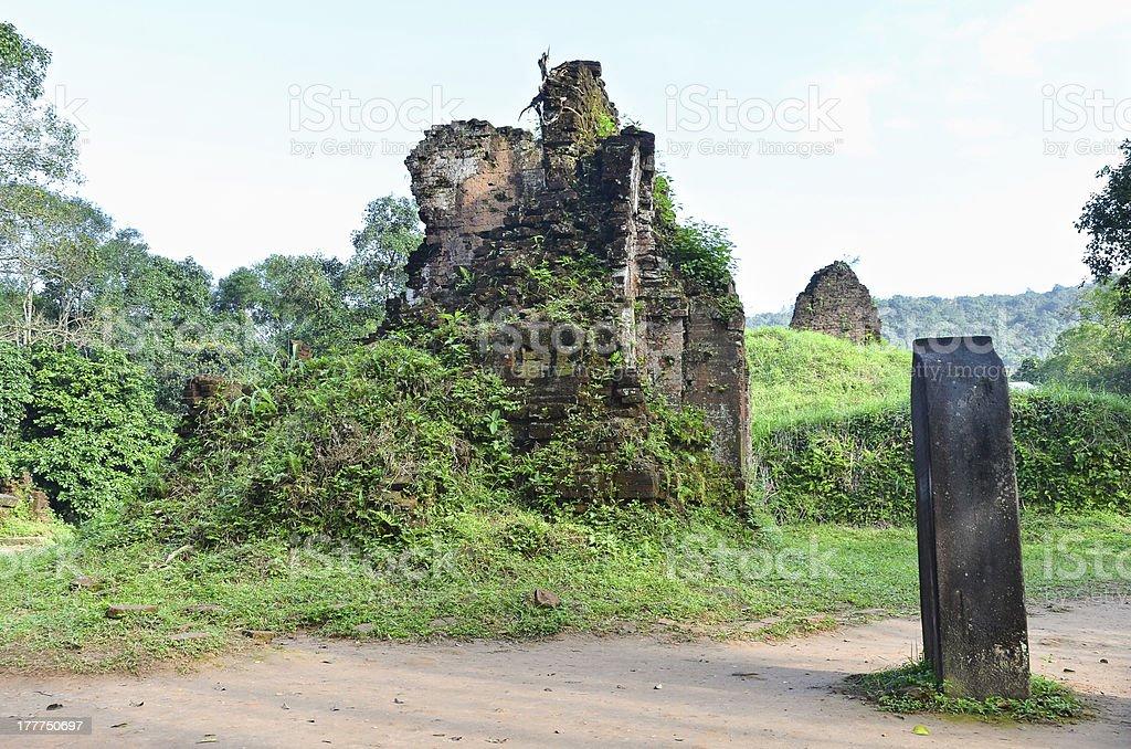 My Son Ruins Group E stock photo