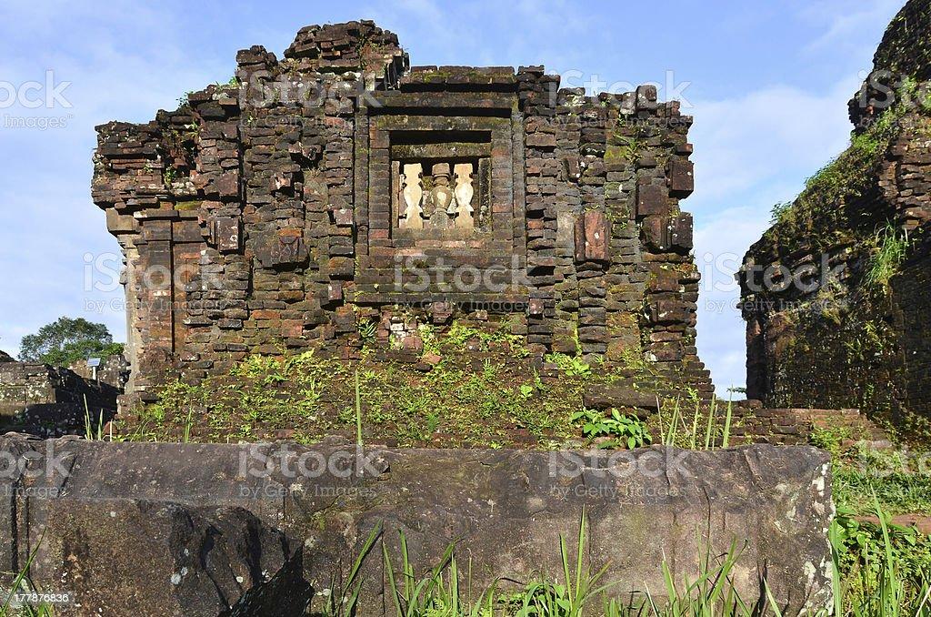 My Son Ruins Temple B6 stock photo