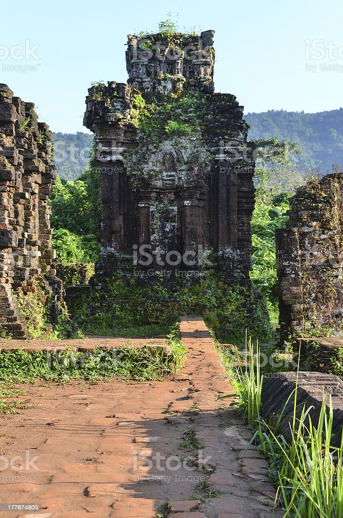 My Son Ruins Tower Gate C2 stock photo