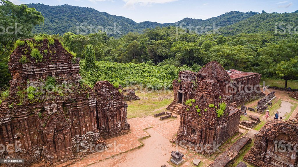 My Son Sanctuary - Quang Nam,  view from above stock photo