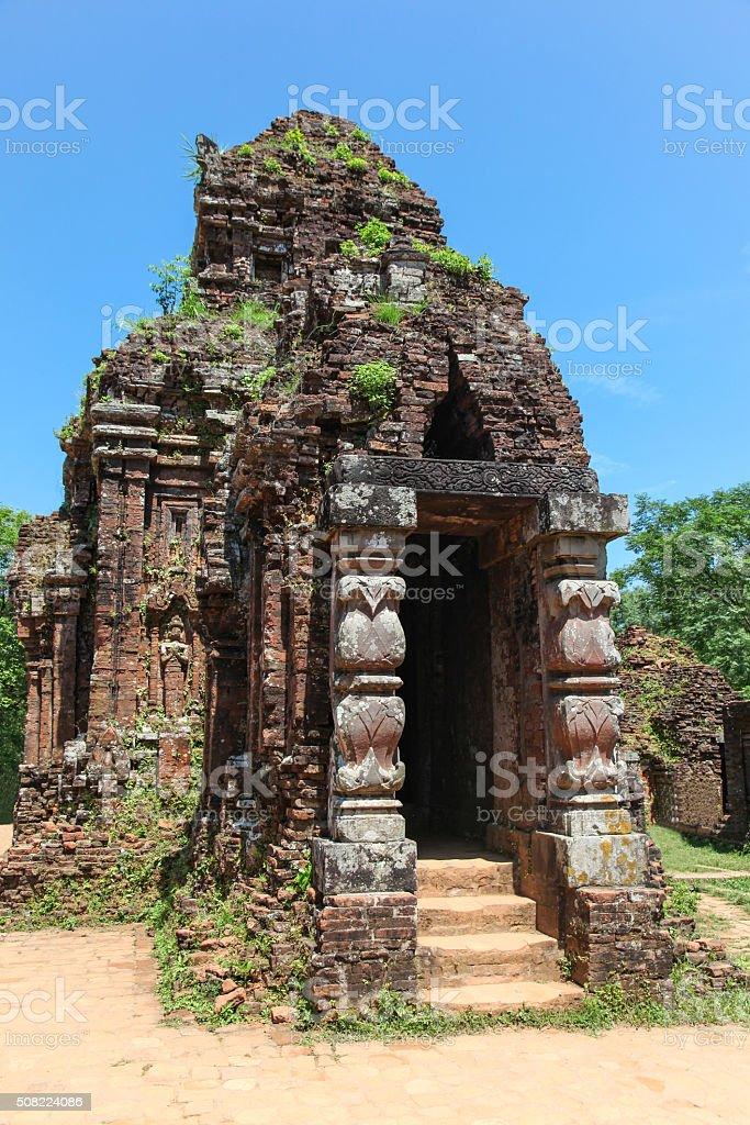 My Son Temple Complex - Vietnam stock photo