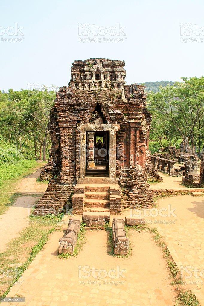 My Son temple ruins in Hoi An, Vietnam photo libre de droits