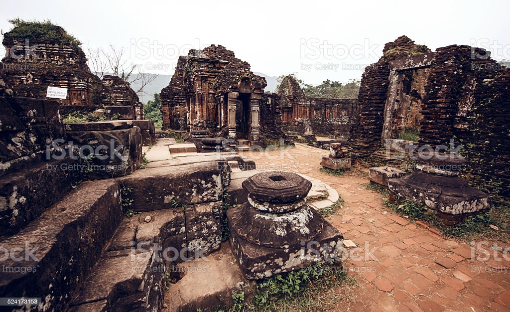 My Son temple ruins stock photo