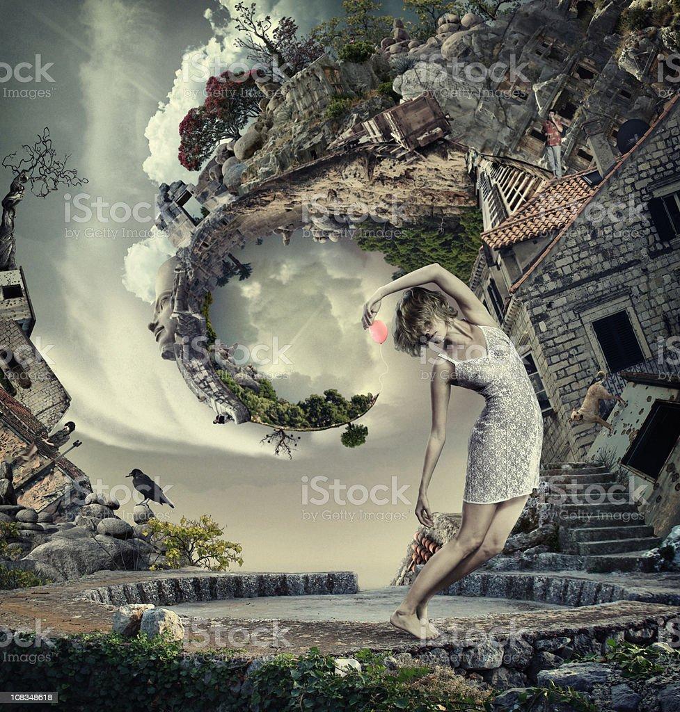 My spirale world royalty-free stock photo