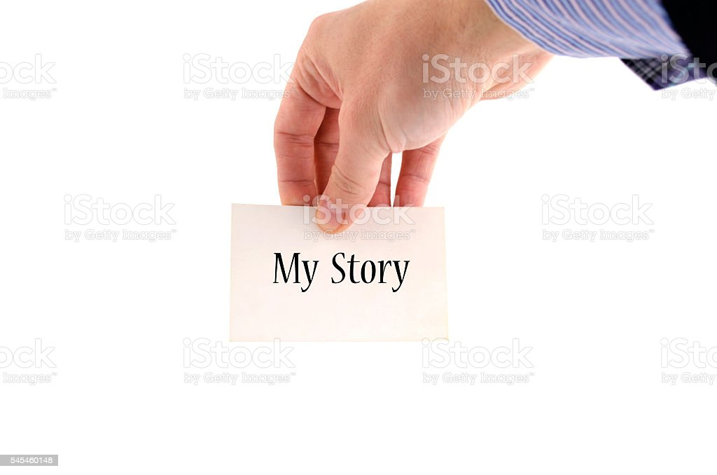 My story text concept stock photo