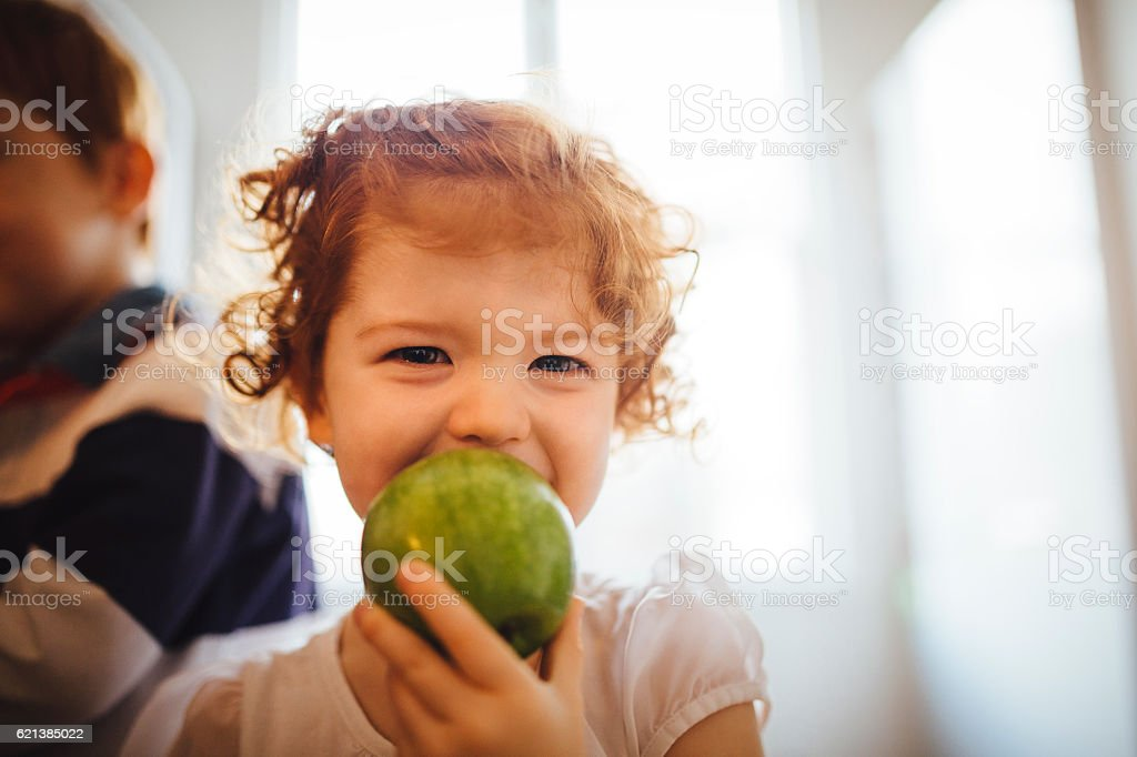 My Tasty Green Apple stock photo