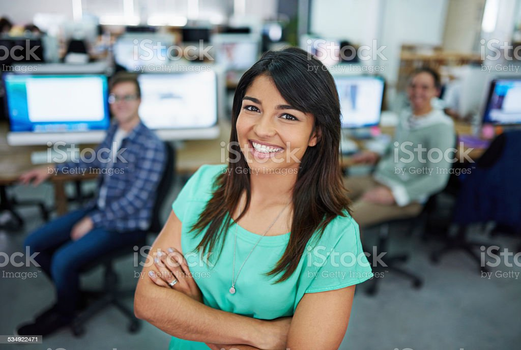 My team is first-class stock photo