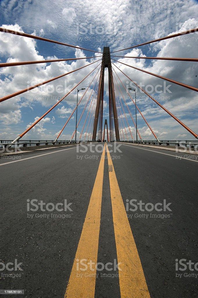 My Thuan bridge royalty-free stock photo