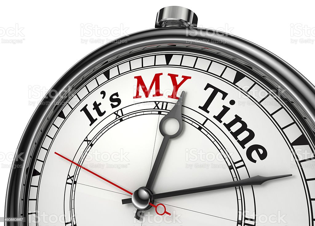my time concept clock stock photo