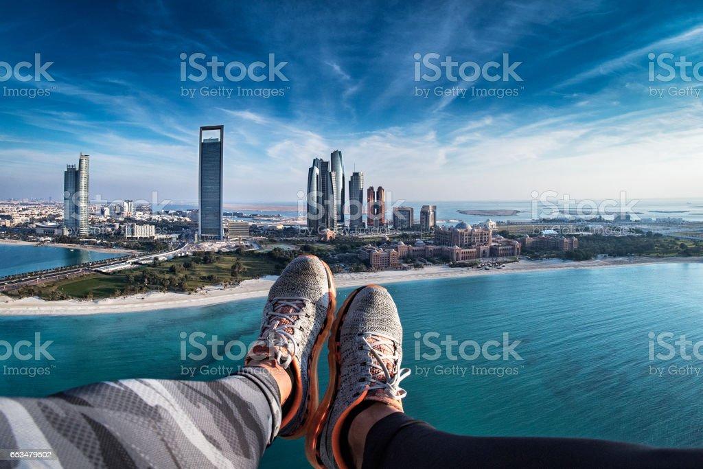 My view of Abu Dhabi stock photo