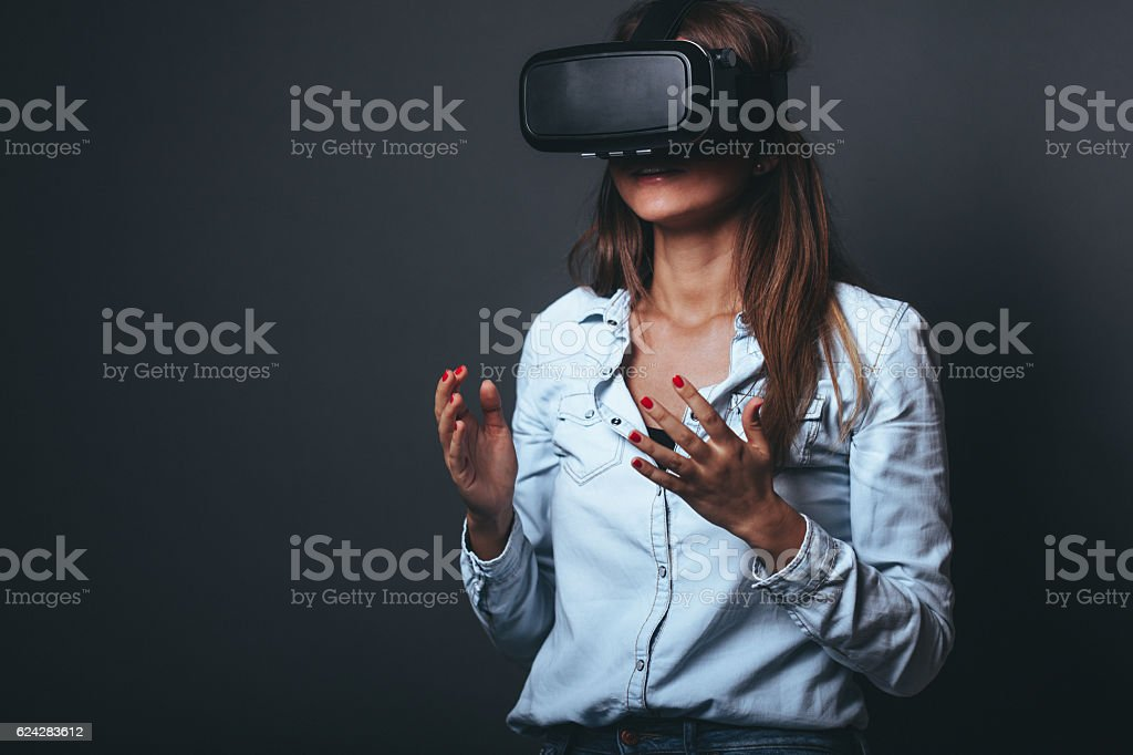 My virtual reality stock photo