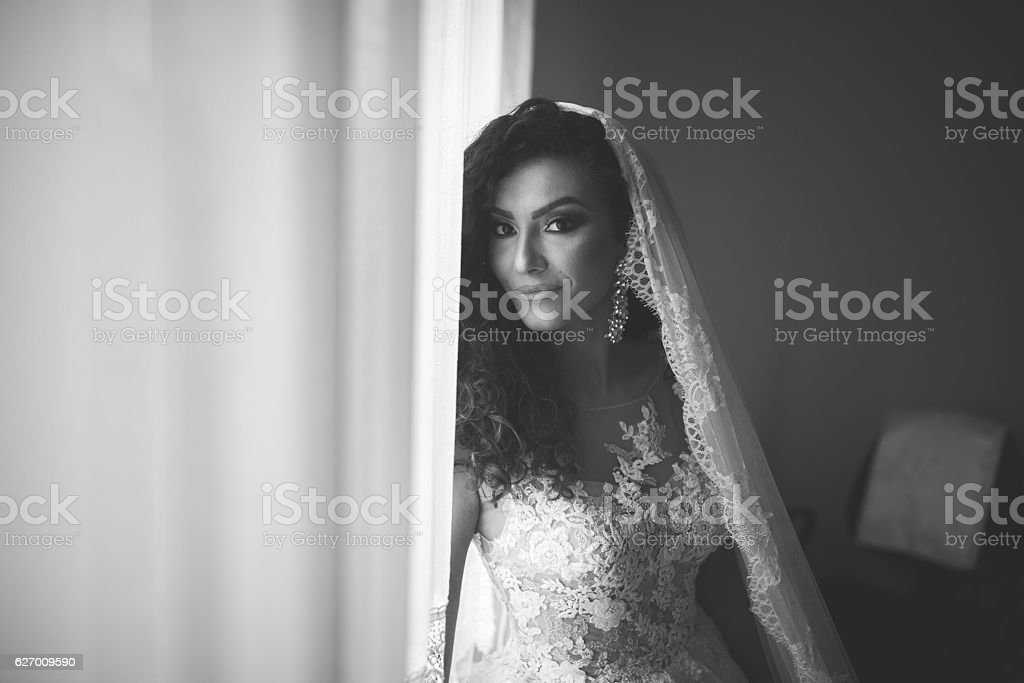 My wedding day stock photo