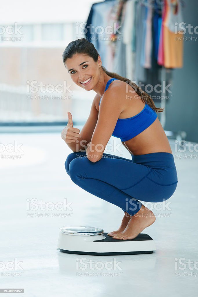 My weight loss goals are right on track stock photo