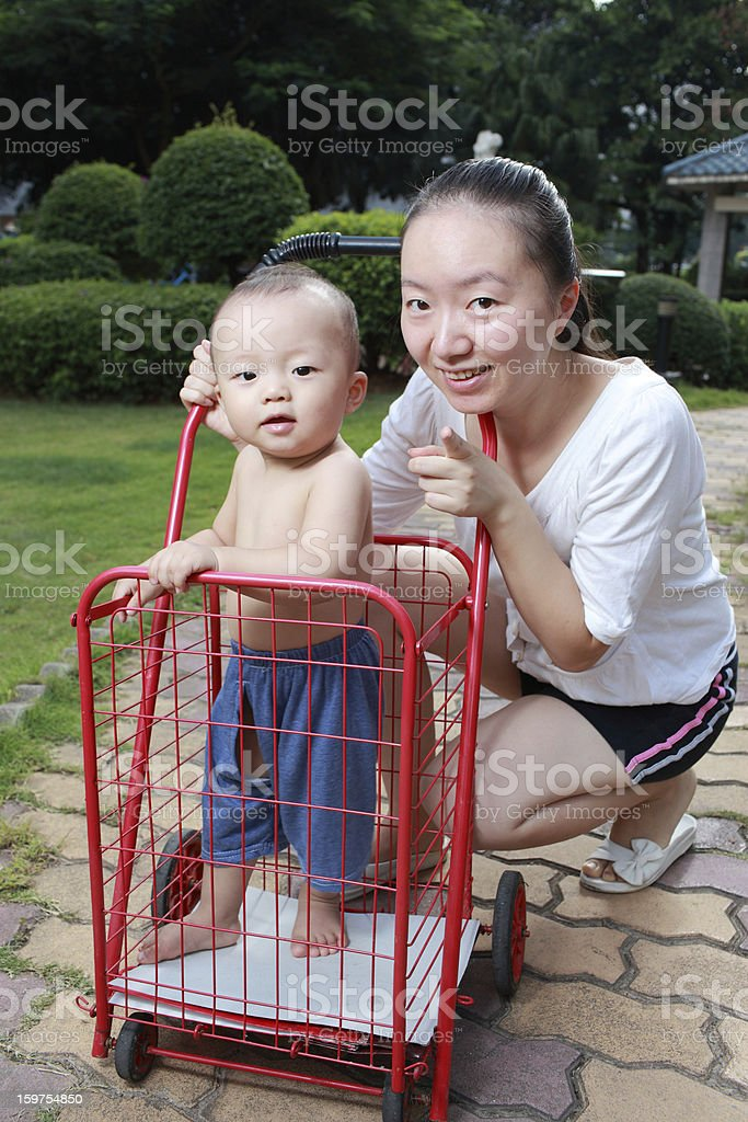 My wife and son royalty-free stock photo