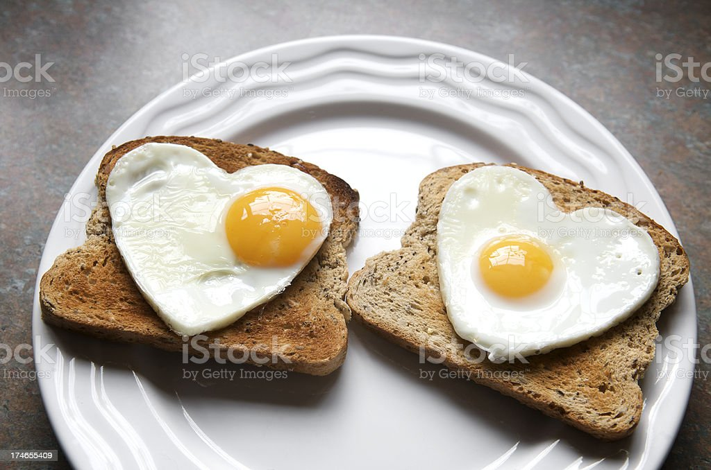 My Yolk Beats for You Healthy Eating Heart Eggs royalty-free stock photo