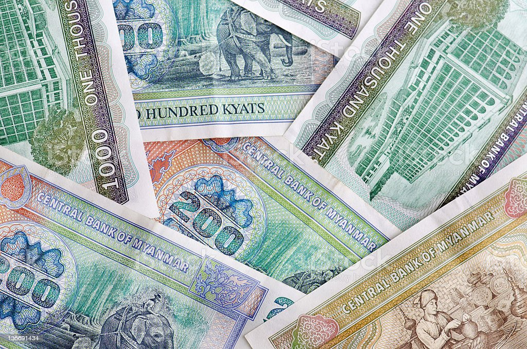 Myanmar banknotes royalty-free stock photo