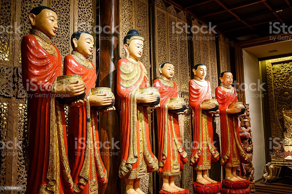 Myanmar Buddha stock photo