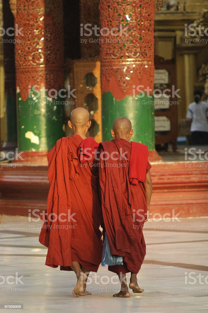 Myanmar / Burma - Buddhist Monks royalty-free stock photo